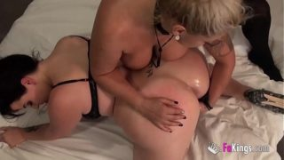 A prank on Maria ends up in a hot anal threesome with Fede's big cock and ultimate MILF Alexa