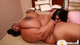 BBW Pornstars Eliza Allure N Cotton Candi Double Team Cock