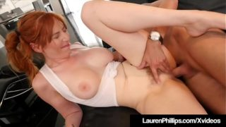 Ginger Bush Lauren Phillips Is Pussy Pounded By Horny Cock!