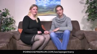 SEXTAPE GERMANY – Amateur BBW gets cum on tits in hardcore fuck