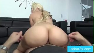 Blondie Fesser big tits slut ride dick on cam