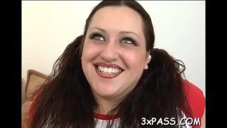 Ebon man stuffs holes of white beauty by his big fat penis