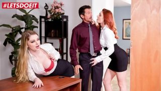 LETSDOEIT – Shows Us What You Got Boss! Nobody Will Know (Bunny Colby & Lacy Lennon)