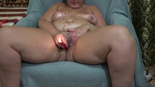 bbw, dripping the wax and fuck yourself burning candle