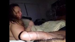 Big White Milf Sucks Cock