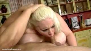 Chubby Teen With Big Boobs N Belly Sucks Huge Cock